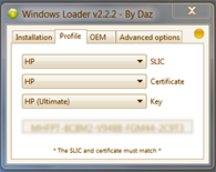 Descargar Windows Loader v2.2.2. Activador Windows 7 Loader by Daz gratis.